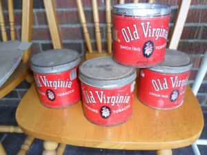 Vintage Tobacco Tins Old Virginia