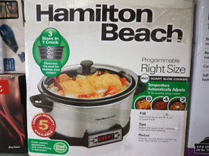 Hamilton Beach Right Size Slow Cooker
