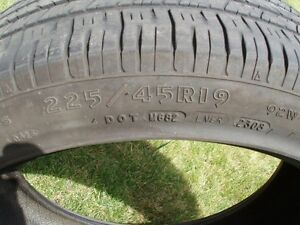 """Pair of 19"""" Goodyear Eagle RS-A tires North Shore Greater Vancouver Area image 3"""