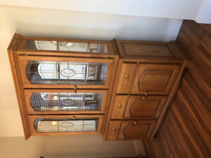 Hutch with Display Cabinet