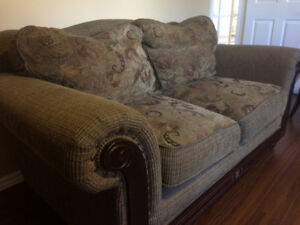 Cozy, comfy loveseat couch