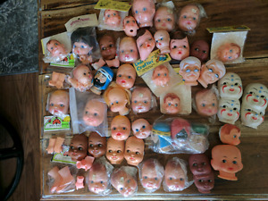 Huge Lot of Vintage Doll Heads - Vintage Doll Crafting Supplies
