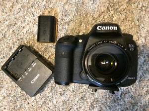 Canon 7d mark ii, canon 70-200 lens, and accessories