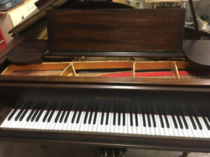 "Mason and Hamlin (Boston) A (5' 8"") Grand Piano in Satin Walnut"