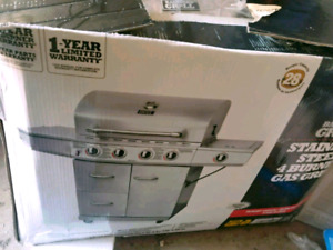 Backyard Grill stainless steel 4 burner gas gril