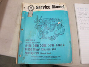 IH Tractor, D-155,D-179,D-206,D-239,D-310, D-358 Engine Manual