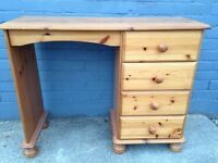 Pine desk/dressing table shabby chic project
