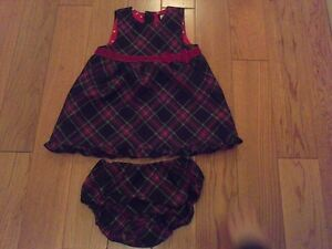 Baby Girl Christmas Dress w/Matching Diaper Cover *too cute!*