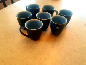 7 Denby Storm mugs  blue
