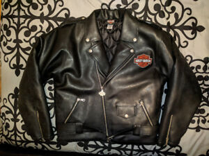 Harley Davidson Authentic Genu XL Leather Biker Jacket Brand New