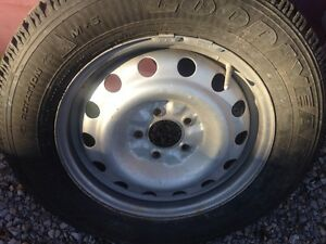 Winter tires and rims off a 2003 Chevy impala  Peterborough Peterborough Area image 4