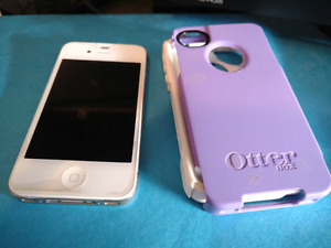 IPhone 4s with case and charger