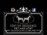 DOG TRAINING/ WALKER AND PET SITTING AVAILABLE!