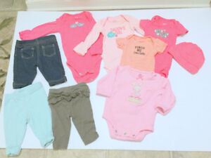 Baby Girl Clothes (New Born) (9 item. $1.40 ea.) Jumpers, Jeans