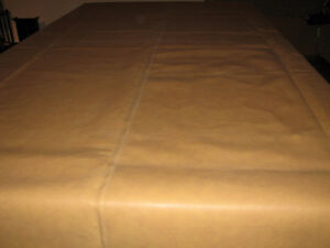 Beige/ Tan Unfitted Pool / Snooker Table Cover- Naugahyde 8- 12'