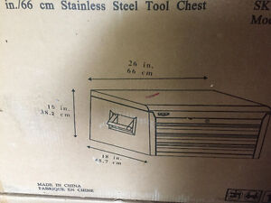Stainless Steel Tool Box for sale, still in box