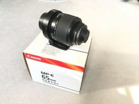 MPE-65 Mint condition including B+W F-Pro UV filter and canon lens hood