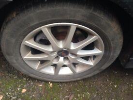 "Saab Alloys With Tyres 16"""