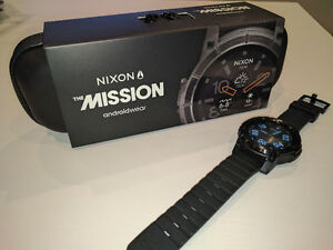 MINT - Nixon The Mission Smart Watch - All Black - Android Wear