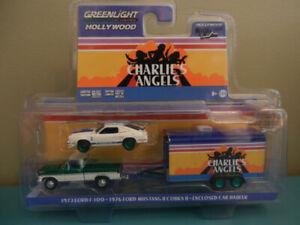 Greenlight Charlie's Angels F-100,Mustang,Hauler Green Machine