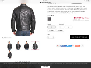 Brand new genuine leather motorcycle jacket mens