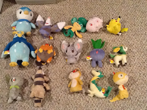 15 Pokemon Plush Toys