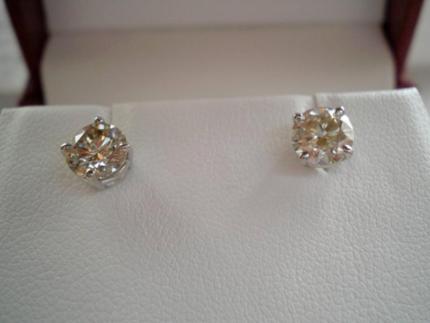 DIAMOND EARRINGS-1.57CT =.78CT EACH= SO VERY BEAUTIFUL