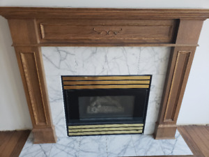 Gas fireplace insert!  working.