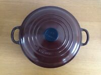 LE CREUSET Cast Iron Shallow Casserole. RARE COLOUR!