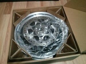 Harley Davidson rims for 2016 fat boy lo with brake rotors..NEW