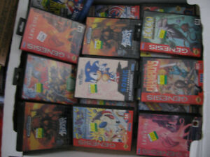 Sega Genesis Games in Box