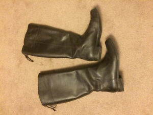 BROWN LEATHER BOOTS FROM NINE WEST -SIZE 7