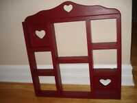 Country Style Quilt Rack and Heart Shelf
