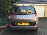 Renault Scenic, 1.6cc, petrol, automatic, 8640 miles Because in 2011 it had a new engine, 1 year Mot