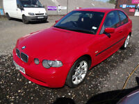 BMW 316 Ti SPORT COMPACT 1.8~53/2003~3 DOOR HATCHBACK~GENUINE SPORT~STUNNING RED