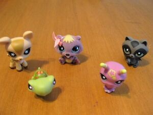 LITTLEST PET SHOP LOT D raccoon deer chipmunk turtle bug