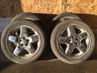 Set of 4 tyres on rim P215/55R 18 94T for Jeep