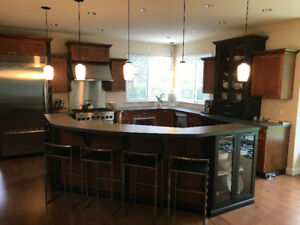 Gourmet executive style, custom maple kitchen