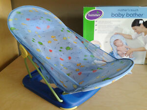 Like new. Summer Infant Mother's Touch Baby Bather, Blue