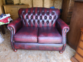 Chesterfield 2 seater leather sofa Thomas lloyd