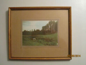 """""""The Brook Green Gables"""" Framed Craswell Hand Tinted Photograph"""