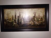 Abstract cityscape frame
