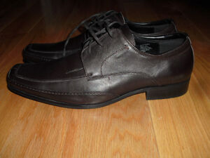 Kenneth Cole Reaction The Money Laceup Brown Leather Dress Shoes