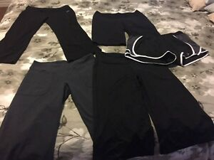 Workout clothes (pants, tanks and sports bras)