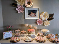 Paper Flower Rental Package - Party decor! ( Pink, cream, gold!)