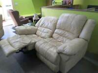 Two-Seater Manual Reclining Sofa - Can Deliver For FREE Locally On Orders Over £100