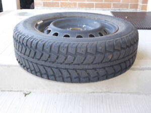 4 Used 175/65 R14 Winter Tires on Rims
