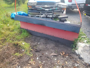 Boss snow plow 7.6F straight blade for sale