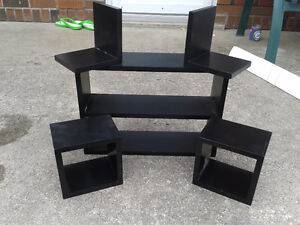 5 Pc. Black Shelves