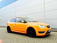 2005 55 Reg Ford Focus 2.5 ST2 ORANGE + 3door + SS SPORTS EXHAUST + NICE SPEC ST